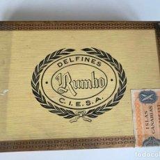 Cajas de Puros: DELFINES , RUMBO , C.I.E.S.A. 25 PUROS , CAJA PRECINTADA DE PUROS CON ROTURA ,. Lote 214273632