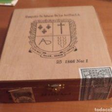 Cajas de Puros: CAJA DE CIGARROS COMPAÑIA DE TABACOS DE LAS ANTILLAS. Lote 214307041