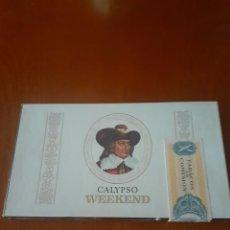 Cajas de Puros: CAJA DE PUROS VACIA DE CALYPSO CON SU TIMBRE. Lote 214627790