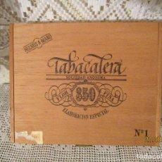Cajas de Puros: CAJA DE PUROS VACIA TABACALERA, S.A.FLOR 350 FINA ELABORACION ESPECIAL Nº 1 HECHOS A MANO. Lote 215206715