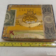 Cajas de Puros: CAJA 25 PUROS CHICOS CELLOPHANE PARTAGAS.VACIA .SELLOS Y PRECINTOS OFICIALES.CUBA. EPOCA REPUBLICA. Lote 215405743