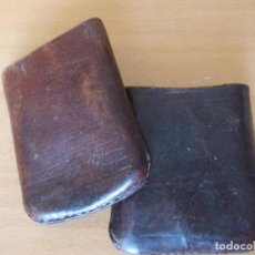 Cajas de Puros: CAJA - ESTUCHE PORTA PUROS FINOS DE CUERO. Lote 216966146