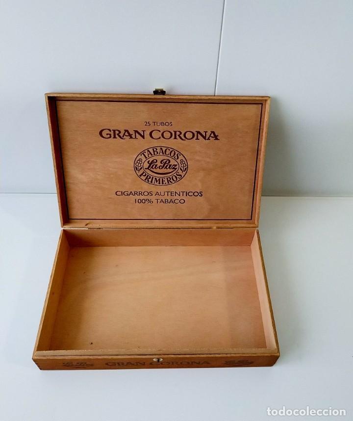 Cajas de Puros: BONITA CAJA DE MADERA DE PUROS GRAN CORONA,VACÍA - Foto 2 - 217023792