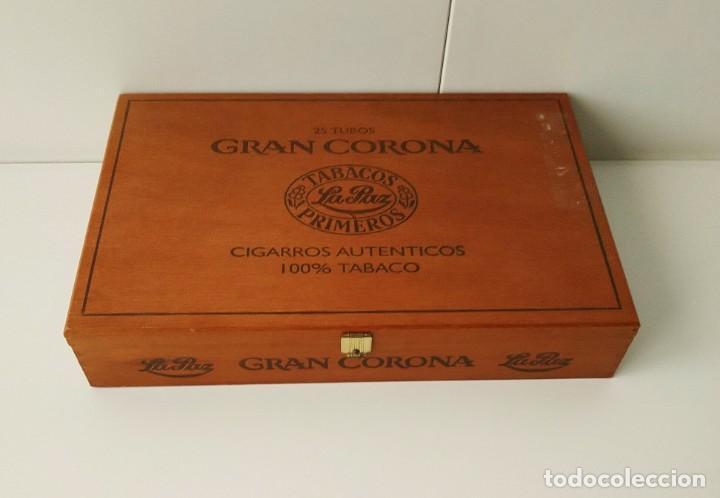 BONITA CAJA DE PUROS GRAN CORONA, VACÍA (Coleccionismo - Objetos para Fumar - Cajas de Puros)