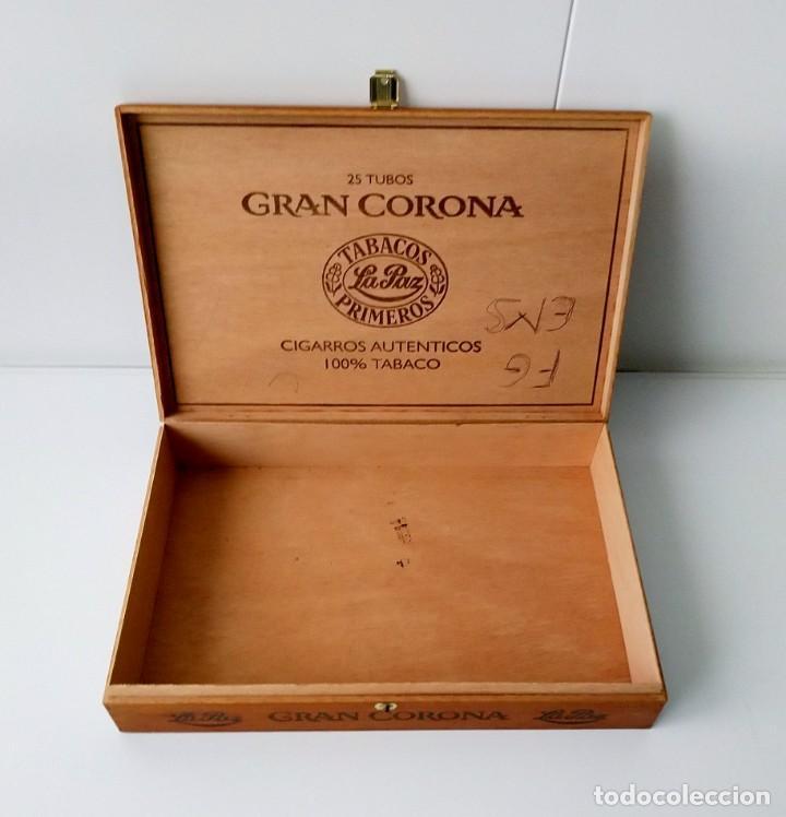 Cajas de Puros: BONITA CAJA DE PUROS GRAN CORONA, VACÍA - Foto 2 - 217024352