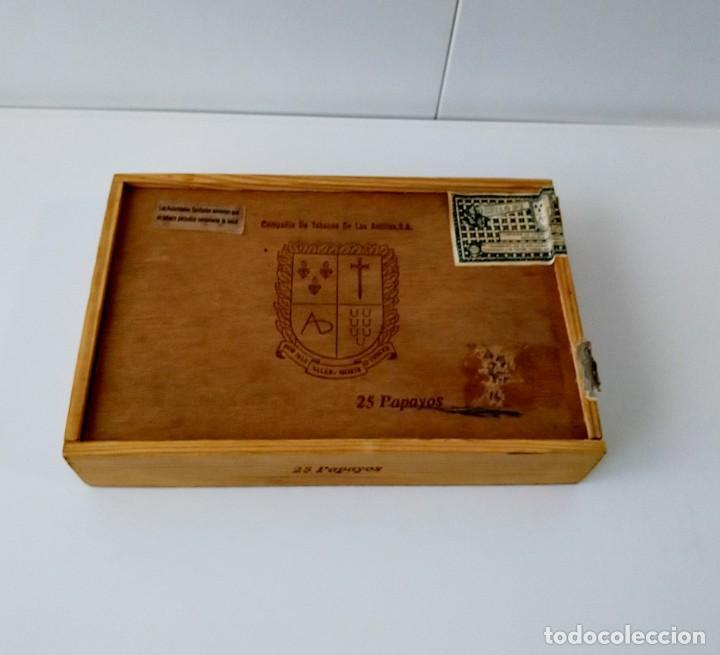 BONITA CAJA DE PUROS VACÍA, COMPAÑÍA DE TABACOS DE LAS ANTILLAS (Coleccionismo - Objetos para Fumar - Cajas de Puros)