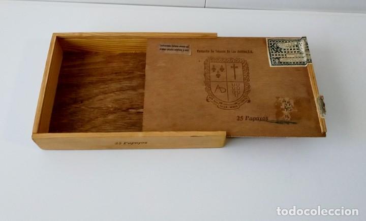 Cajas de Puros: BONITA CAJA DE PUROS VACÍA, COMPAÑÍA DE TABACOS DE LAS ANTILLAS - Foto 2 - 217026285