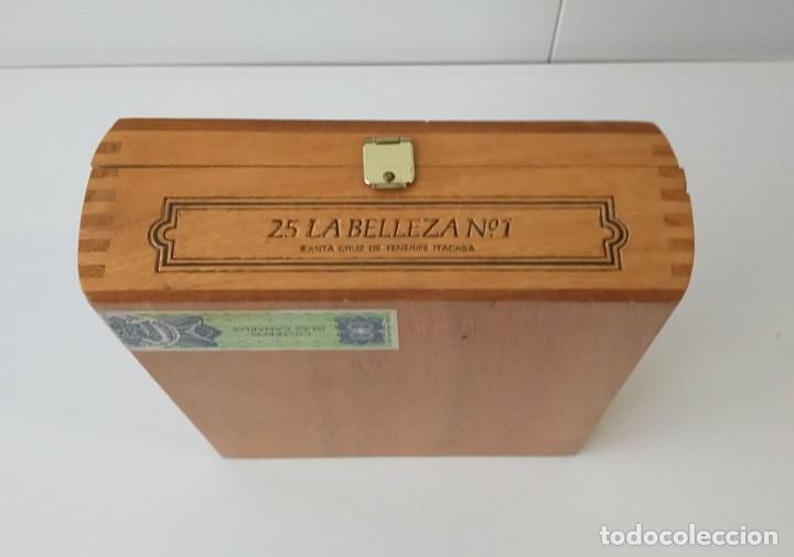 Cajas de Puros: BONITA CAJA DE PUROS VACÍA, LA BELLEZA Nº 1, CON CERTIFICADO DE GARANTIA - Foto 2 - 217028926