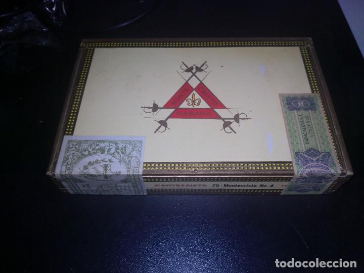 CAJA DE PUROS MONTECRISTO Nº 4 PRECINTADA (Coleccionismo - Objetos para Fumar - Cajas de Puros)