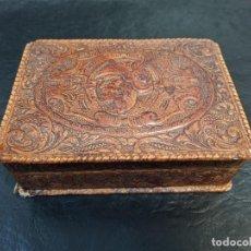 Cajas de Puros: CIGARRERA CUERO REPUJADO. PURERA. C27. Lote 217787845