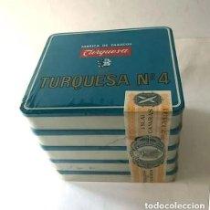 Cajas de Puros: TURQUESA Nº 4 / 5 CAJAS METALICAS ( 100 PURITOS ) SIN ABRIR ( CELOFAN ) ISLAS CANARIAS /. Lote 217906450