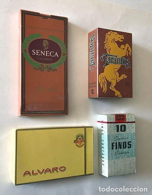 TARANTOS - ISLEÑOS ALVARO - FINOS - SENECA / CAJAS SIN ABRIR / PRECINTADAS (Coleccionismo - Objetos para Fumar - Cajas de Puros)