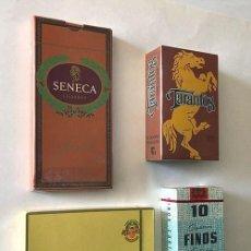 Cajas de Puros: TARANTOS - ISLEÑOS ALVARO - FINOS - SENECA / CAJAS SIN ABRIR / PRECINTADAS. Lote 217906776