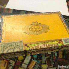 Cajas de Puros: ANTIGUA CAJA PUROS HABANOS PARTAGANAS HABANA CUBA 23 PERFECTOS Y 1 LOS STATOS DE LUXE HABANOS. Lote 218115297