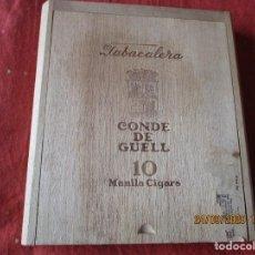 Cajas de Puros: CONDE DE GUELL. 10 MANILA CIGARS. CAJA DE PUROS VACIA.. Lote 218708833