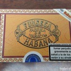 Cajas de Puros: ANTIGUA CAJA CIGARROS FONSECA HABANA 25 - KDT CADETES CUBA PRECINTADA SIN ABRIR. Lote 218848322