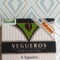 Cajas de Puros: VEGUEROS 4 TAPADOS , PINAR DEL RIO, CUBA. Lote 218982803