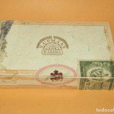 Cajas de Puros: ANTIGUA CAJA DE CIGARROS PUROS H. UPMANN MADE IN HABANA PROVEEDOR DE S. M. DON ALFONSO XII. Lote 219478203