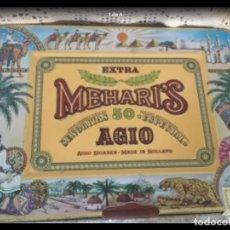 Cajas de Puros: CAJA METÁLICA MEHARIS AGIO BUEN ESTADO. Lote 219569540