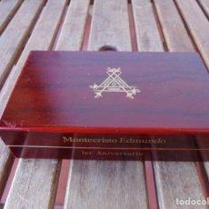 Cajas de Puros: CAJA DE PUROS VACIA EN MADERA MONTECRISTO LA HABANA EDMUNDO PRIMER ANIVERSARIO SERIE ESPECIAL. Lote 220890243