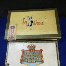Cajas de Puros: LOTE 2 CAJAS DE PUROS, 12 LA FAMA Y 14 SOBERANOS CAPOTE. Lote 221644140