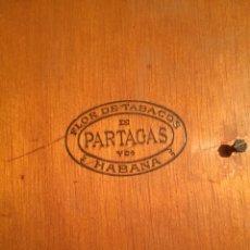 Cajas de Puros: CAJA DE PUROS PARTAGAS 898 FLOR DE TABACOS DE PARTAGAS HABANA-CAJA DE MADERA DE PUROS PARTAGAS VACIA. Lote 221664042