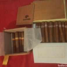 Cajas de Puros: LOTE 2 CAJAS CON 28 PUROS HABANOS COHIBA Y MONTECRISTO 2002. Lote 221725625