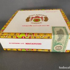 Cajas de Puros: MACANUDO JAMAICA CAJA CON 25 PORTOFINO CAFE , PRECINTADA , SEALED BOX , PUROS .. Lote 222240261