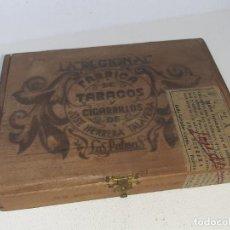 Cajas de Puros: ANTIGUA CAJA DE PUROS LA REGIONAL FABRICA DE TABACOS Y CIGARRILLOS JOSE HERRERA TALAVERA LAS PALMAS. Lote 222336585