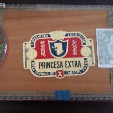 Cajas de Puros: CAJA DE 29 PUROS PRINCESA EXTRA. Lote 222348543
