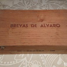 Cajas de Puros: ANTIGUA CAJA DE PUROS DE MADERA MARCA BREVAS DE ALVARO AÑOS 50-60. Lote 222377048