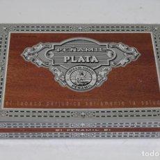Cajas de Puros: CAJA DE PUROS PEÑAMIL PLATA. Lote 222624336