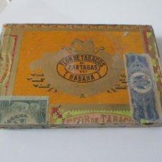Cajas de Puros: CAJA DE PUROS FLOR DE TABACOS PARTAGAS Y Cª HABANA. Lote 223729296