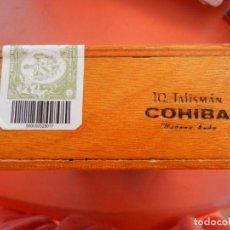 Cajas de Puros: COHIBA CUBA - CAJA DE PUROS - 10 TALISMÁN - DESPRECINTADA PARA VER EL INTERIOR - VER FOTOS.. Lote 224106187