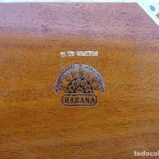 Cajas de Puros: *CAJA DE PUROS VACIA DE HABANOS 25 SIR WINSTON. H. UPMANN. HABANA. BIEN CONSERVADA. GRABADA. Lote 224130878