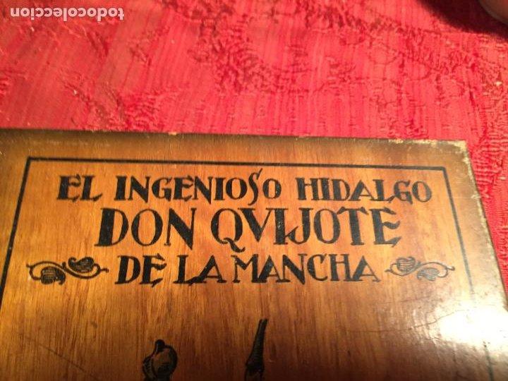 Cajas de Puros: Antigua caja de madera el hingenioso hidalgo Don Quijote de la Mancha para puros años 60-70 - Foto 3 - 224397537