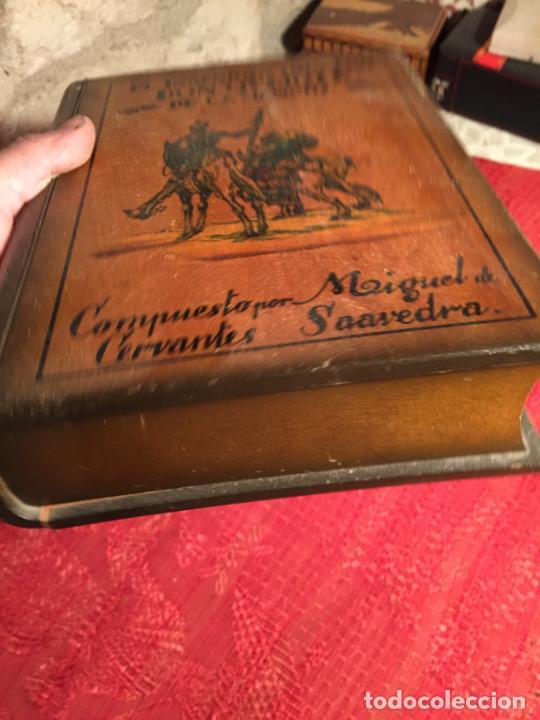 Cajas de Puros: Antigua caja de madera el hingenioso hidalgo Don Quijote de la Mancha para puros años 60-70 - Foto 5 - 224397537