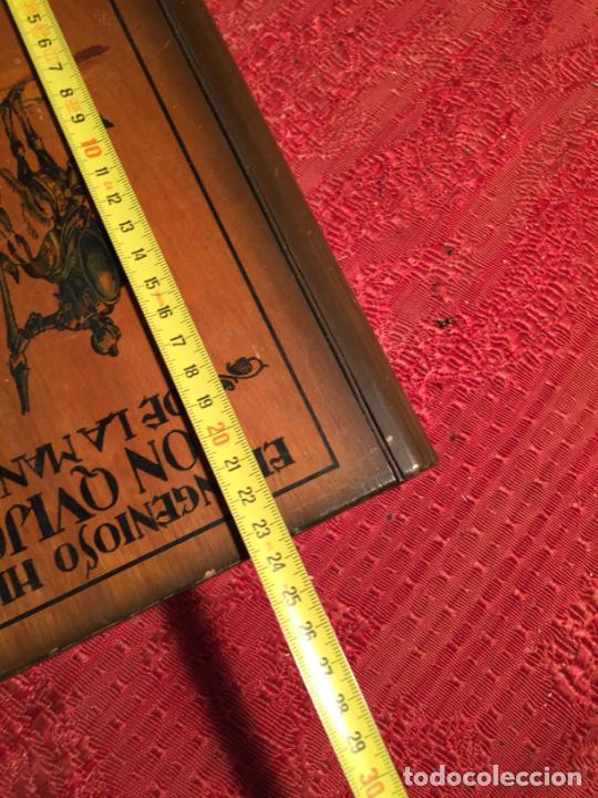Cajas de Puros: Antigua caja de madera el hingenioso hidalgo Don Quijote de la Mancha para puros años 60-70 - Foto 11 - 224397537