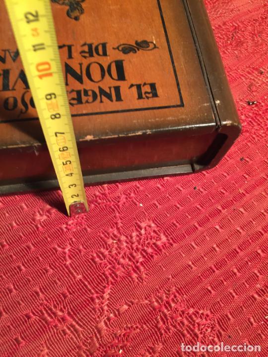Cajas de Puros: Antigua caja de madera el hingenioso hidalgo Don Quijote de la Mancha para puros años 60-70 - Foto 12 - 224397537