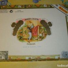 Cajas de Puros: CAJA DE PUROS ROMEO Y JULIETA MEZCLADOS,VER FOTOS AÑOS 70.. Lote 224406085