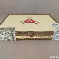 Scatole di Sigari: ANTIGUA CAJA DE PUROS PRECINTADA MONTECRISTO 10 TUBOS - HABANA (CUBA) MONTECRISTO - BOX CIGARS. Lote 224755678