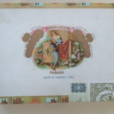 Cajas de Puros: CAJA PUROS HABANOS ROMEO Y JULIETA 10 ROMEO NUM 1. VACÍA HABANA CUBA AÑOS 70. Lote 227842930
