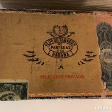 Cajas de Puros: CAJA DE PUROS HABANOS. PARTAGAS. SELECCIÓN PRIVADA. PRE-EMBARGO. MUY DIFÍCIL. VACÍA. Lote 228509365