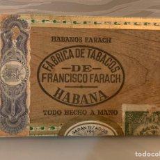 Cajas de Puros: CAJA DE PUROS HABANOS. FRANCISCO FARACH. PRE-EMBARGO. VACÍA. Lote 228509865