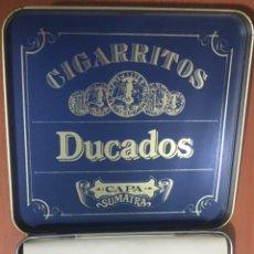 Cajas de Puros: DUCADOS CIGARRITOS METALICA CON CIGARROS - SUMATRA CAJA LATA. Lote 229199185