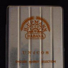 Cajas de Puros: ESCASA CAJA-H.UPMANN UNICOS-ENGLISH MARKET SELECTION HAVANA-CUBA. Lote 232501420