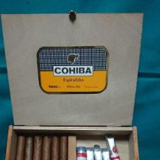 Cajas de Puros: CAJA DE MADERA DE PUROS COHIBA ESPLÉNDIDOS HABANOS CUBA - CON PUROS ( LEER DESCRIPCIÓN). Lote 232956460