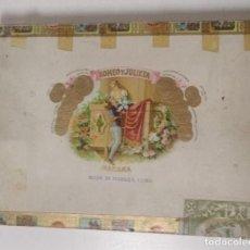 Cajas de Puros: CAJA DE PUROOS HABANOS ROMEO Y JULIETA NUMERADA. VACIA. Lote 234059530