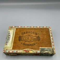 Cajas de Puros: CAJA DE PUROS. PRE REVOLUCION. PITA HERMANOS. HABANA. CUBA. 25 PETI CORONAS. VER. Lote 234062600