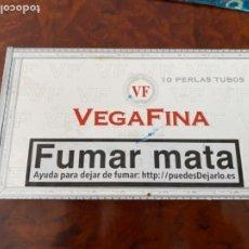 Cajas de Puros: CAJA DE PUROS VACIA - DE MADERA - VEGAFINA - 10 PERLAS TUBOS - 22,5X12,5X3,5. Lote 234671060